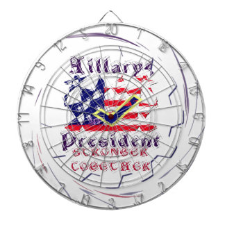Vote for Hillary USA Stronger Together  My Preside Dart Boards