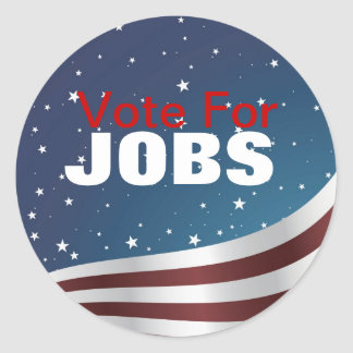 Vote For Jobs Sticker