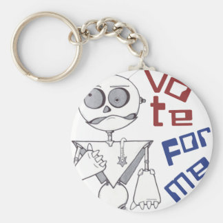 VOTE FOR ME BASIC ROUND BUTTON KEYCHAIN
