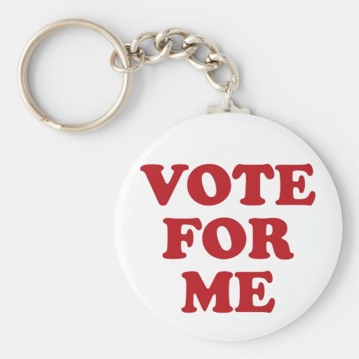 Vote For Me - Red Key Chains