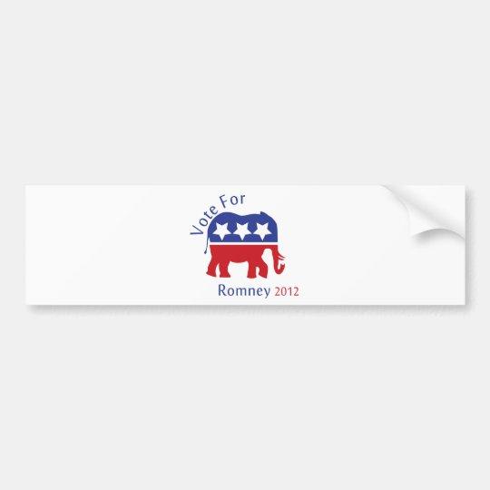 Vote for Mitt Romney 2012 Bumper Sticker