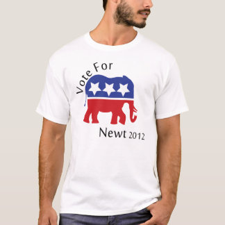 Vote for Newt Gingrich 2012 T-Shirt