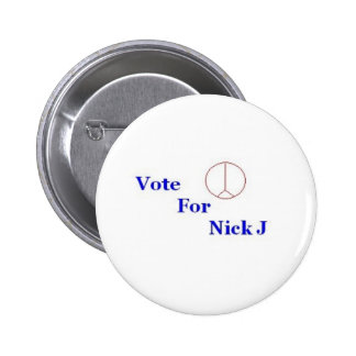 Vote For Nick J. 2 Inch Round Button