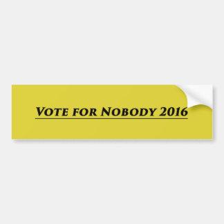 Vote for Nobody 2016 Bumper Sticker