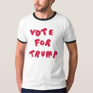 VOTE FOR TRUMP - White, Black, Red Ringer Shirt
