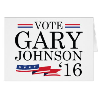 Vote Gary Johnson 2016 Card