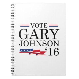 Vote Gary Johnson 2016 Notebooks
