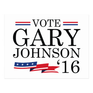 Vote Gary Johnson 2016 Postcard