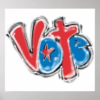 Vote Graffiti Illustration Poster