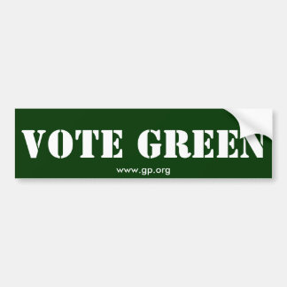 VOTE GREEN BUMPER STICKER