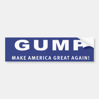 Vote Gump! Donald Trump election sticker