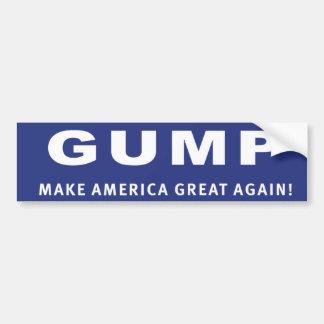 Vote Gump! Donald Trump election sticker Bumper Sticker
