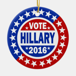 Vote Hillary 2016 Ceramic Ornament