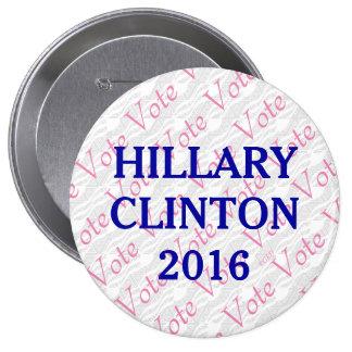 Vote Hillary Clinton 2016 4 Inch Round Button