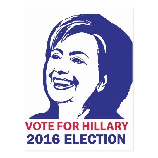 vote hillary clinton 2016 postcard