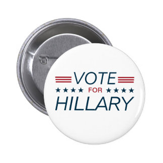 Vote Hillary for President 2016 2 Inch Round Button