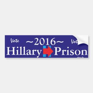Vote Hillary For Prison Logo Bumpersticker Bumper Sticker