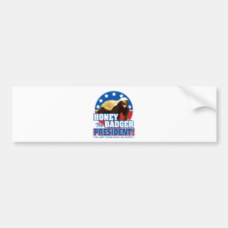 Vote Honey Badger For President Bumper Sticker