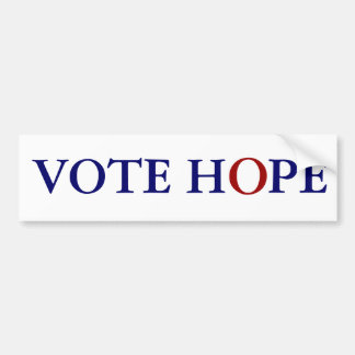 VOTE HOPE BUMPER STICKER