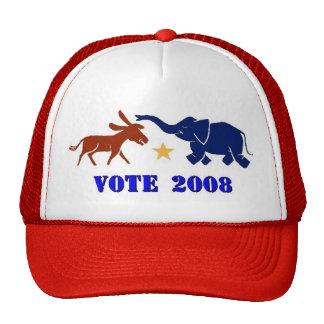 VOTE IN 2008 TRUCKERS CAP HAT DEMOCRAT REPUBLICAN