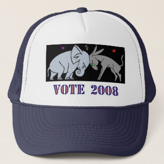 VOTE IN 2008 TRUCKERS HAT CAP REPUBLICAN DEMOCRAT