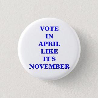 VOTE IN APRIL... 1 INCH ROUND BUTTON