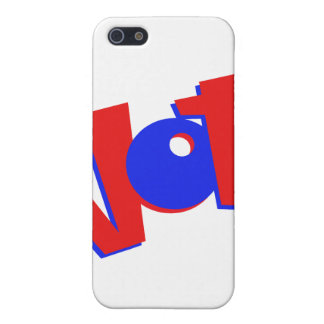 VOTE in red and blue text bouncy election swag iPhone 5/5S Case