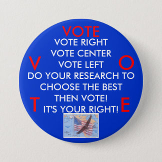 VOTE! IT'S YOUR RIGHT! BUTTON