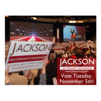 Vote Jackson for Lt. Governor Postcard