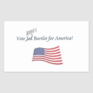 Vote Jed/Abbey Bartlet for America sticker! Sticker