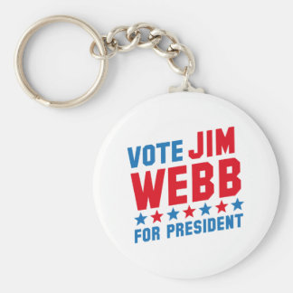 Vote Jim Webb Basic Round Button Keychain