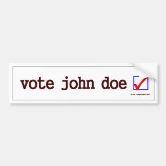 """Vote John Doe"" Bumper Sticker"