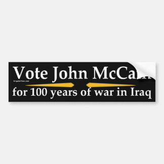 Vote John McCain bumper sticker