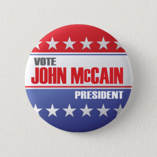 Vote John McCain For President 2 Inch Round Button