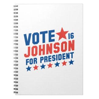 Vote Johnson 2016 Note Book