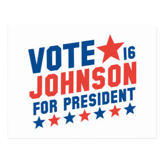 Vote Johnson 2016 Postcard