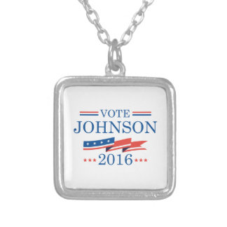 Vote Johnson 2016 Silver Plated Necklace