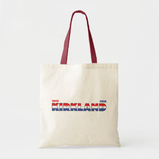 Vote Kirkland 2010 Elections Red White and Blue Budget Tote Bag