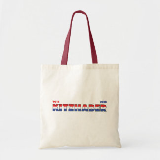 Vote Kitzhaber 2010 Elections Red White and Blue Budget Tote Bag