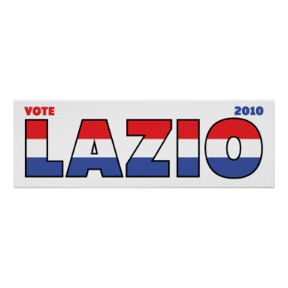 Vote Lazio 2010 Elections Red White and Blue Poster