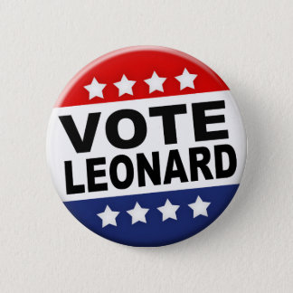 Vote Leonard Button