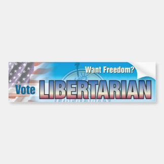 Vote Libertarian Bumper Sticker