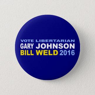 Vote Libertarian Johnson-Weld 2016 2 Inch Round Button