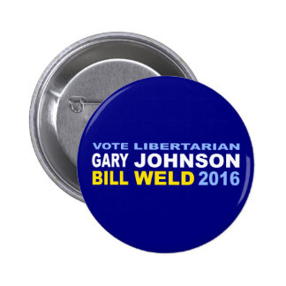 Vote Libertarian Johnson-Weld 2016 2 Inch Round Button