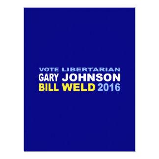 Vote Libertarian Johnson-Weld 2016 Letterhead Template