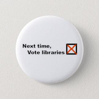 Vote libraries badge 2 inch round button