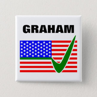 Vote Lindsey Graham for President 2016 2 Inch Square Button
