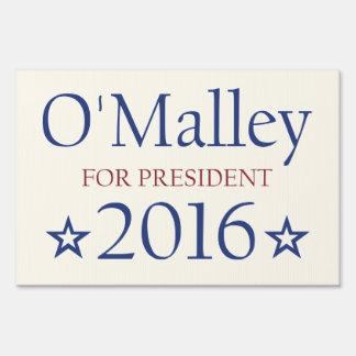 Vote Martin O'Malley President 2016 Sign