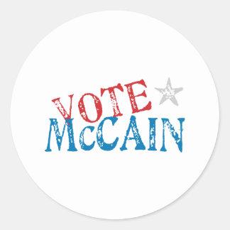 Vote McCain Round Sticker