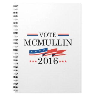 Vote McMullin 2016 Spiral Notebook